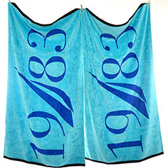 1983 Aqua Beach Towel Set