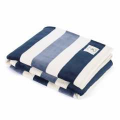 Awning Stripe Micro-Flannel Throw Blanket