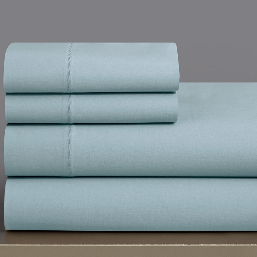 King Sheet Set Grove Hill T330 Sky