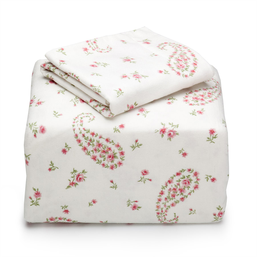 Twin Flannel Sheet Set Laura Ashley Bristol Paisley