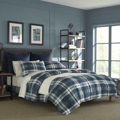 Crossview Plaid Micro-Sued Comforter-Sham Set