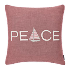 Peaceful Sailing Yarn Dyed Decorative Pillow