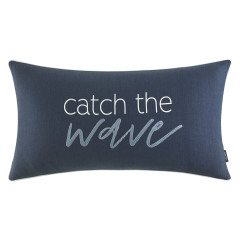 Catch The Wave Cotton Decorative Pillow