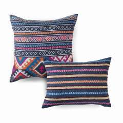 Kilim Stripe Microfiber Decorative Pillow