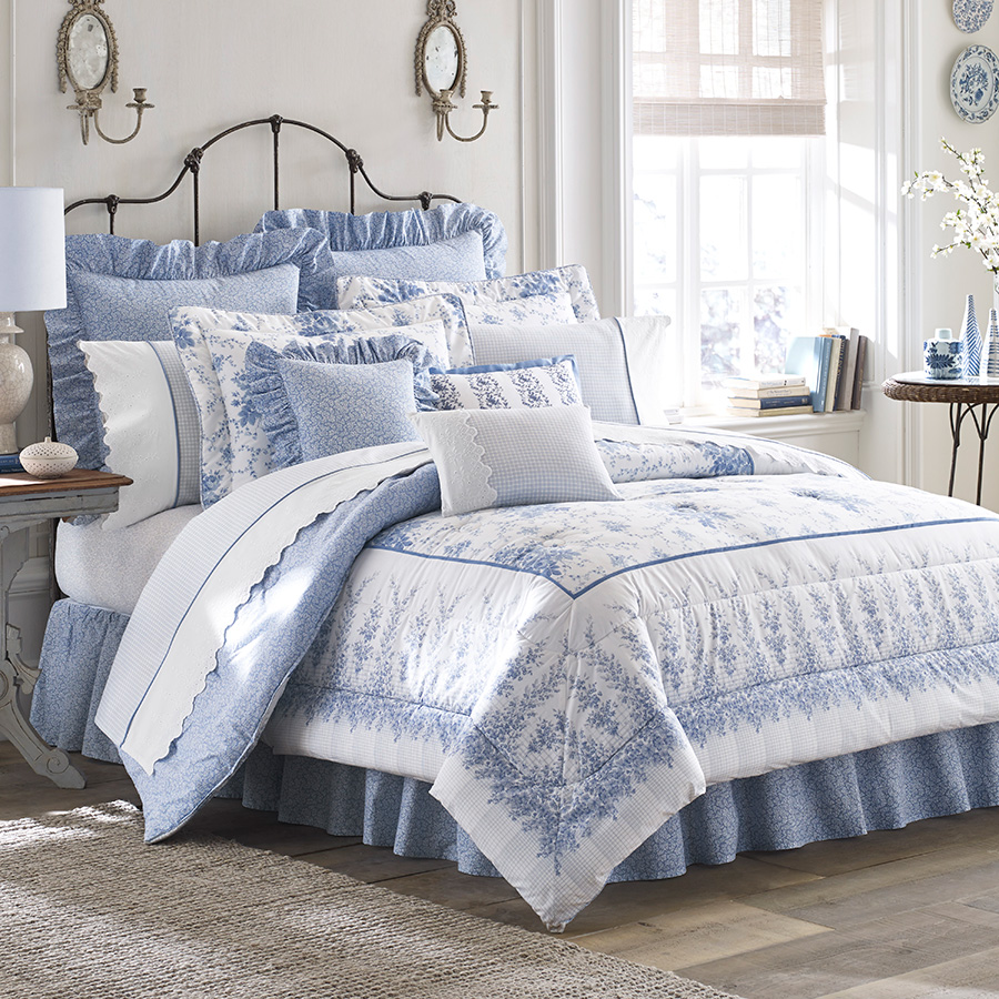 Cal King Comforter Set Laura Ashley Sophia