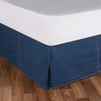 Tommy Hilfiger All American Denim Bedskirt