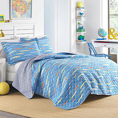 Laura Ashley Alligators Quilt Set