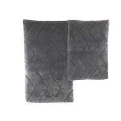 Anchor Grey Chevron Bath Rug Set