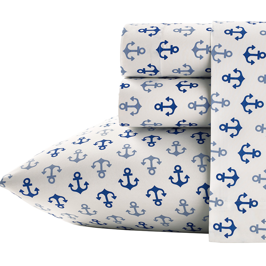 Queen Sheet Set Poppy Fritz Anchors