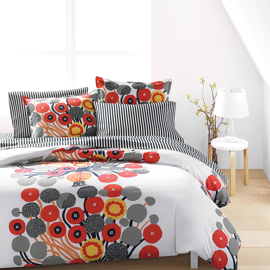 cover marimekko orange duvet in set bed store product bath siirtolapuutarha beyond