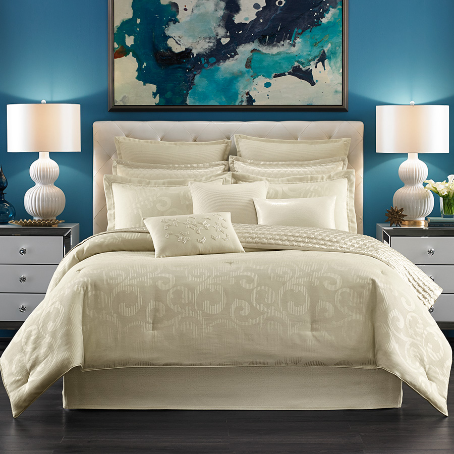 Candice Olson Arabesque Ivory Comforter Set From