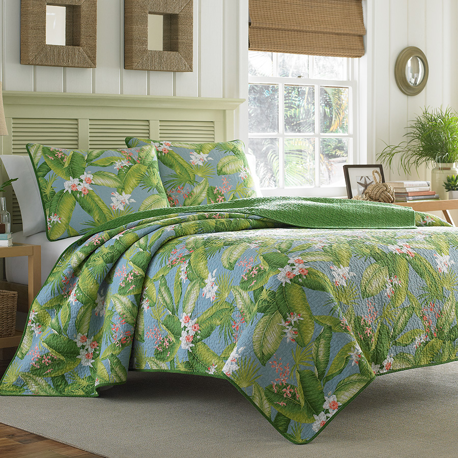 Tommy Bahama Aregada Dock Blue Sky Quilt Set By