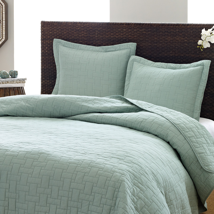 Tommy bahama aruba blue basket weave quilt set from Tommy bahama bedding