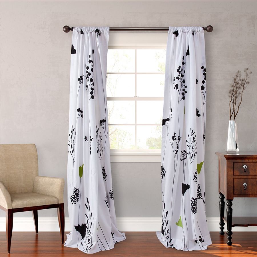Perry Ellis Asian Lilly Window Treatments From