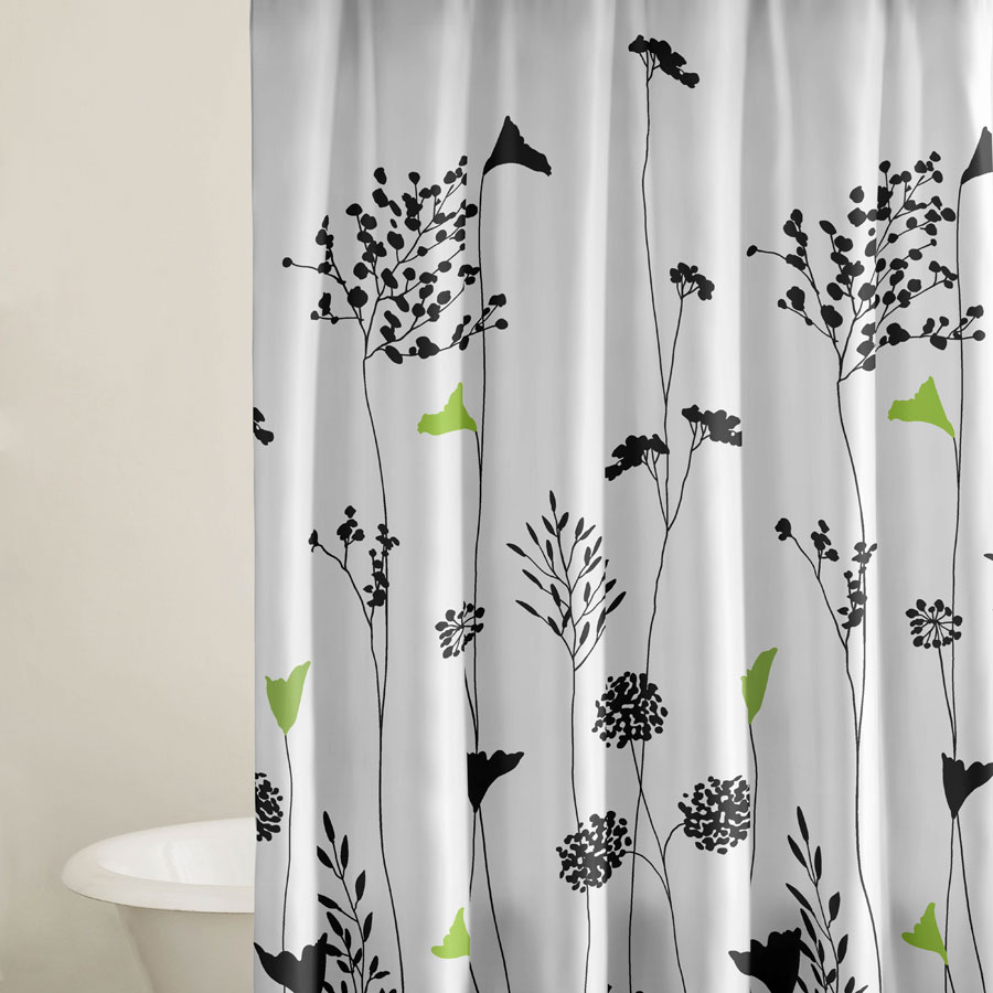 Arts And Crafts Shower Curtain Asian Inspired Faucet