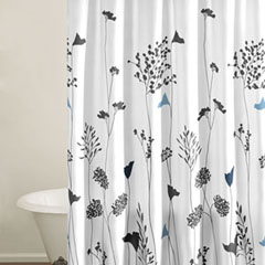 Asian Lilly White Shower Curtain