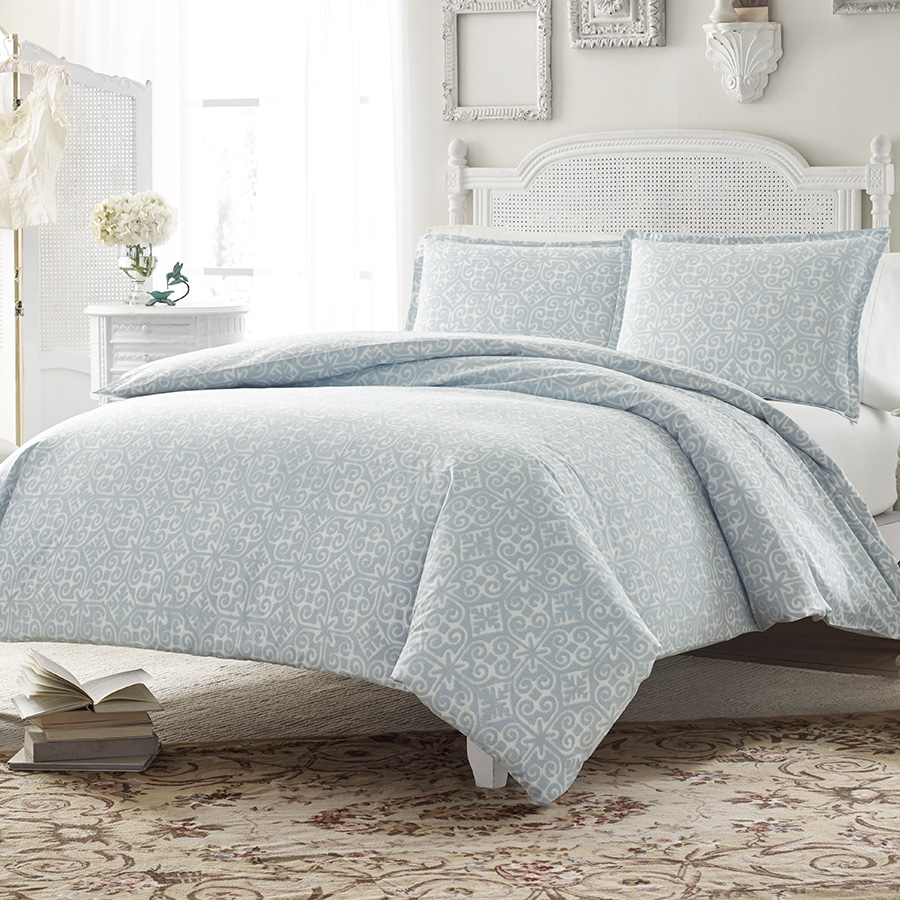 Stone Cottage Ava Soft Blue Comforter And Duvet Set From
