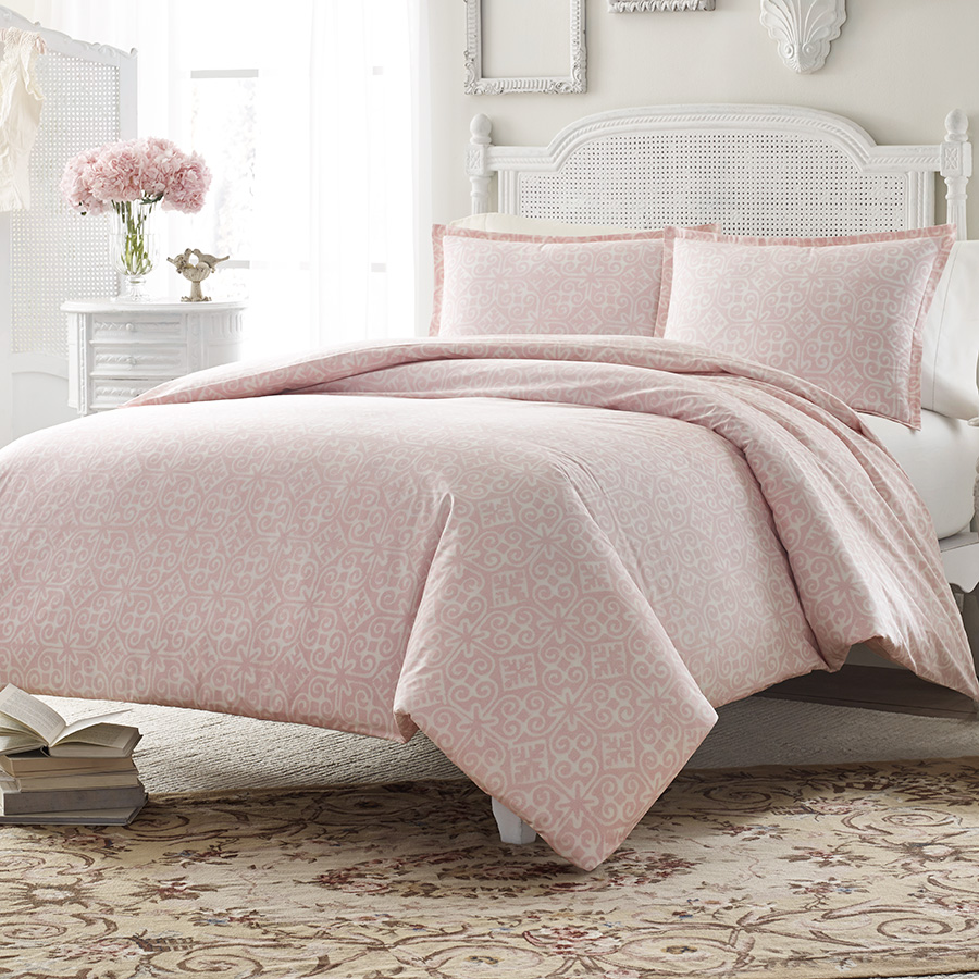 King Duvet Set Stone Cottage Ava Soft Dusty Pink