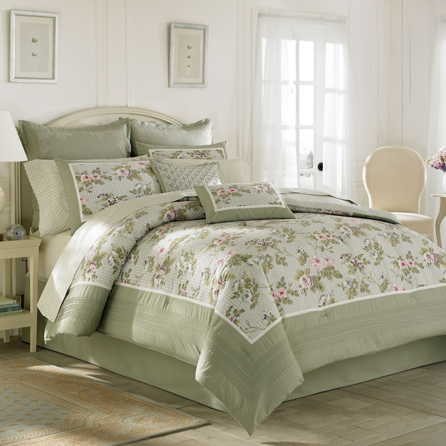 Queen Comforter Set Laura Ashley Avery