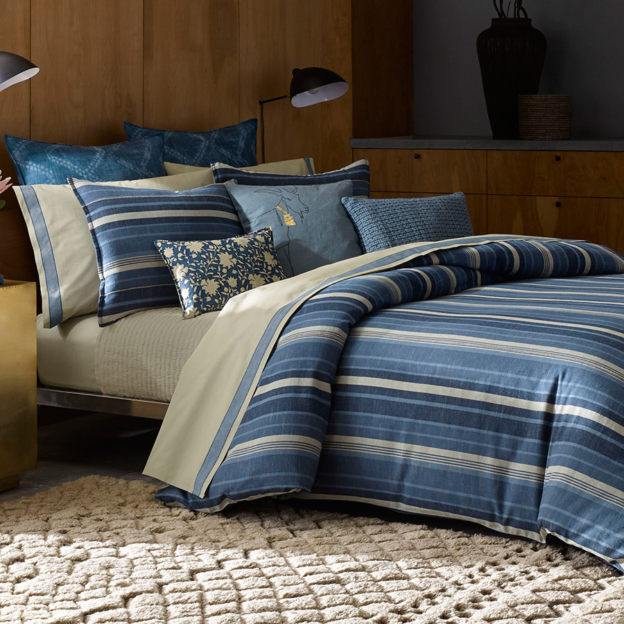 Full Queen Duvet Cover ED Ellen DeGeneres Azur Stripe