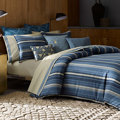 Ed Ellen Degeneres Azur Stripe Bedding Collection From