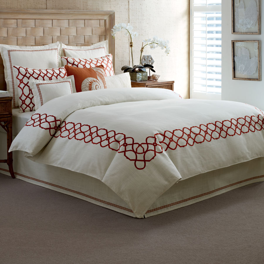 Tommy bahama trellis crimson bedding collection from Tommy bahama bedding
