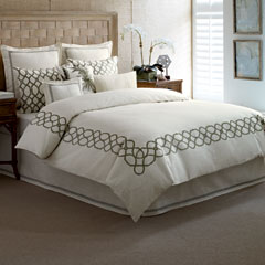 Bahama Trellis Palm Green Duvet Cover