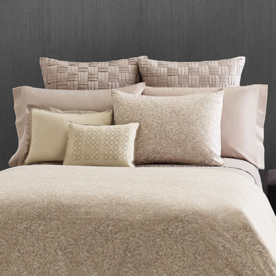 Vera Wang Bamboo Leaves Comforter & Duvet Set