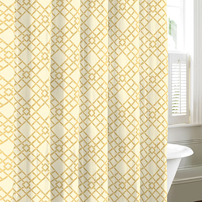 Tommy Bahama Bamboo Trellis Neutral Shower Curtain