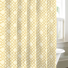 Bamboo Trellis Neutral Shower Curtain