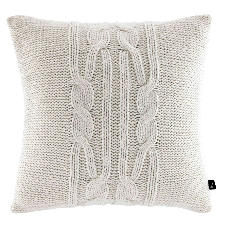 Decorative Pillow Nautica Bartlett Cable Knit Ivory