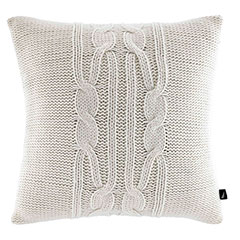 Nautica Bartlett Cable Knit Ivory Pillow