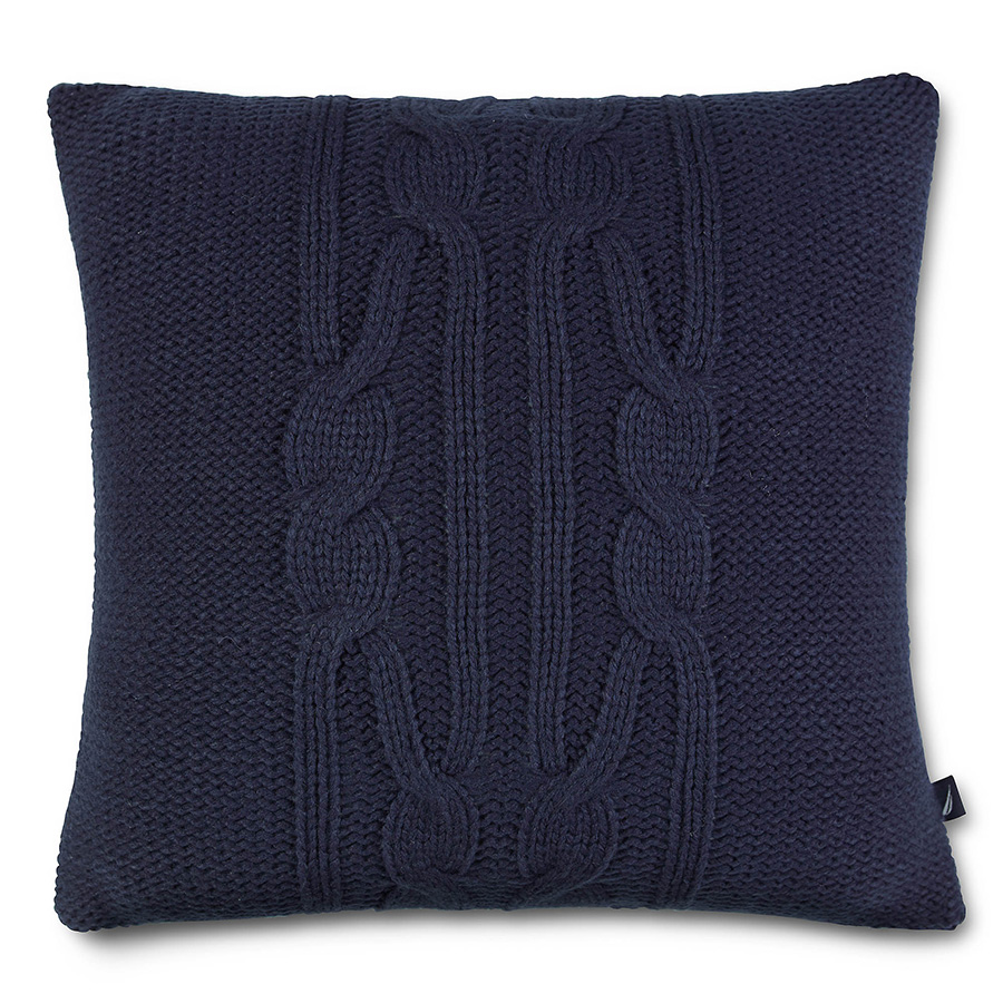 Decorative Pillow Nautica Bartlett Cable Knit Navy