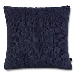 Nautica  Bartlett Cable Knit Navy Pillow