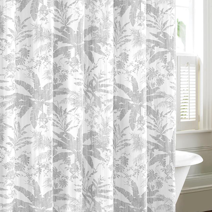 Tommy Bahama Baylon Gray Shower Curtain From