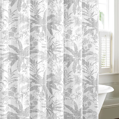 Tommy Bahama Baylon Breeze Gray Shower Curtain