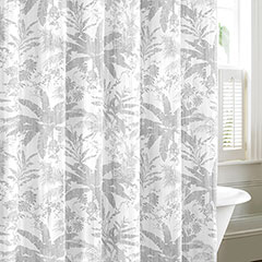 Baylon Breeze Gray Shower Curtain