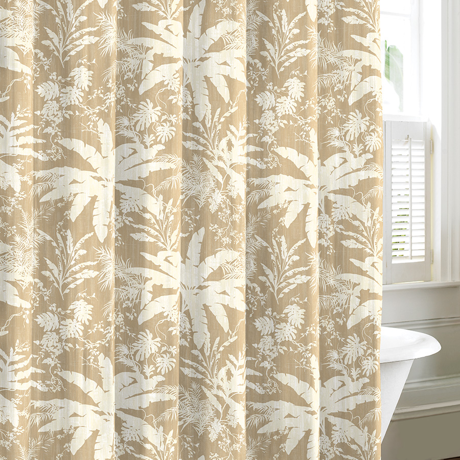 Tommy Bahama Baylon Tan Shower Curtain From Beddingstyle Com