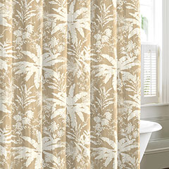 Baylon Breeze Tan Shower Curtain