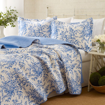 Laura Ashley Bedford Blue Quilt