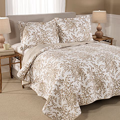 Laura Ashley Bedford Mocha Quilt Set