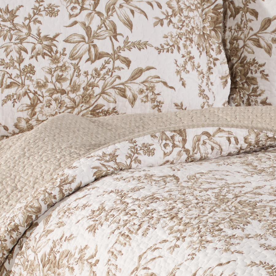 Laura Ashley Bedford Mocha Quilt Set From Beddingstyle Com
