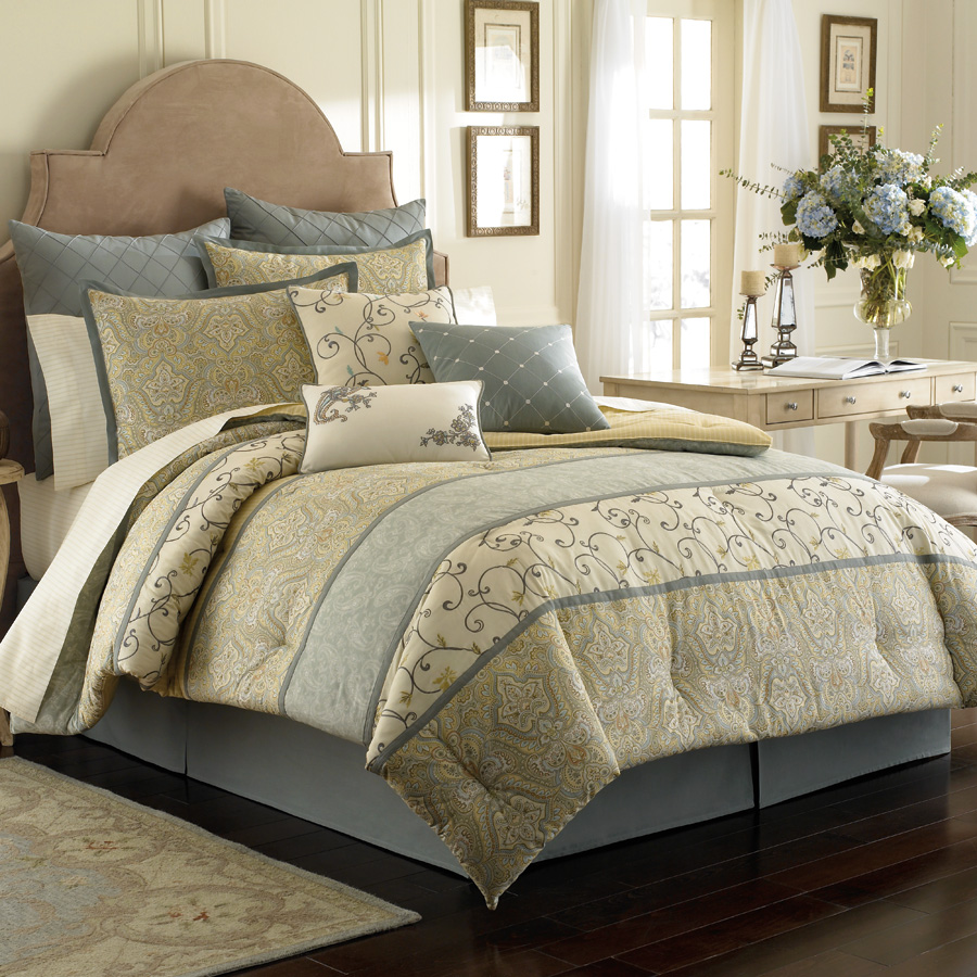 Laura ashley berkley bedding collection from for Bed and bedroom sets