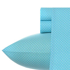 Betsey Johnson Besty Blue Dot Sheet Set
