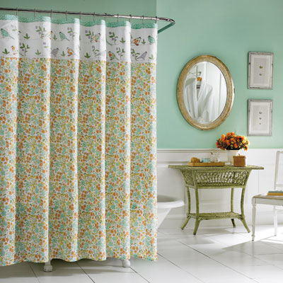 Laura Ashley Birds and Branches Shower Curtain