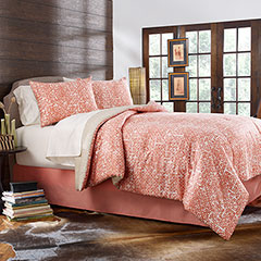 Block Print Lattice Comforter & Duvet Cover Set