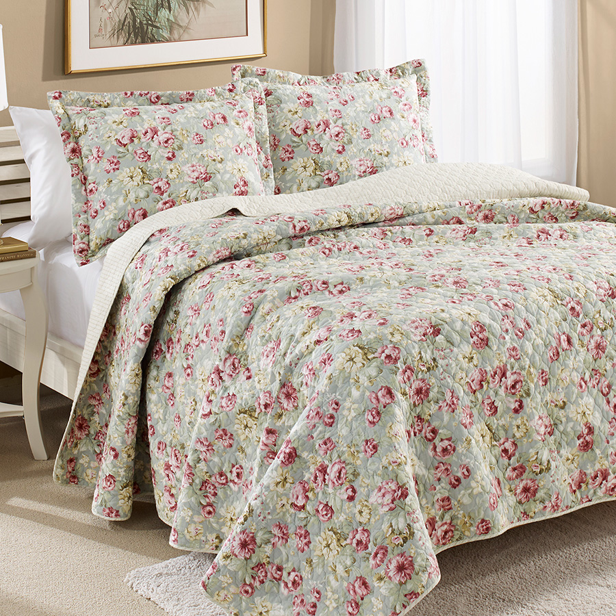 Laura Ashley Bloomsbury Quilt Set From