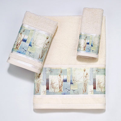 Avanti Blue Waters Decorative Towels