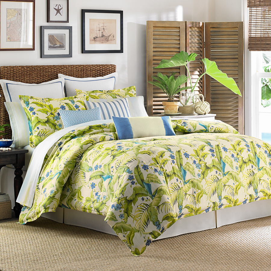 Tommy bahama blue palm comforter and duvet set from Tommy bahama bedding