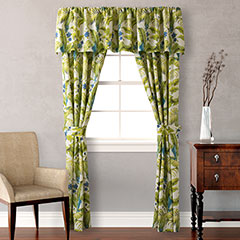 Tommy Bahama Blue Palm Pair of Drapes
